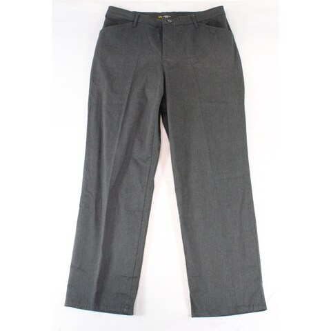Lee Gray Women's Size 12X30 Relaxed Fit Straight Leg Pants Stretch