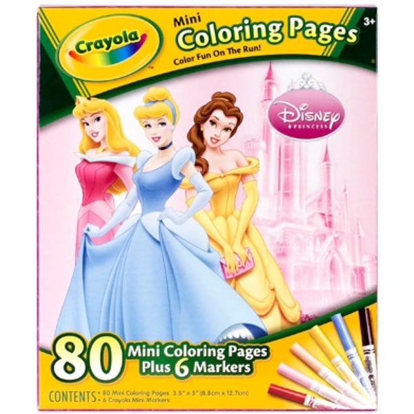Shop Crayola Mini Coloring Pages - Disney Princess 1 ea - Free ...