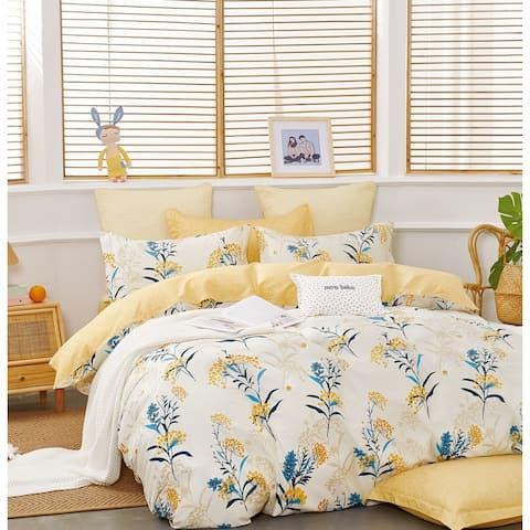 Moore Yellow Dandelion 100 % Cotton Reversible Comforter Set
