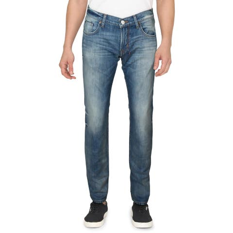 Robert Graham Mens Unleash Jeans Denim Distressed - Light Indigo - 30