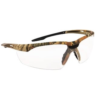 Forney 55435 Safety Glasses, Conqueror with Camo Frame, Clear Lens
