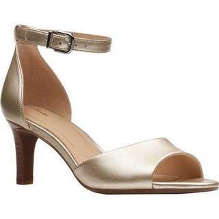 ec59dfca1e5f Quick View.  98.95. Clarks Women s Laureti Grace Ankle Strap Sandal  Champagne Metallic Leather