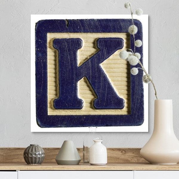 Letter K Canvas Wall Art Overstock 16451320