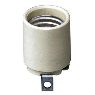 Leviton 03152-00F Keyless Porcelain Lamp Socket, White