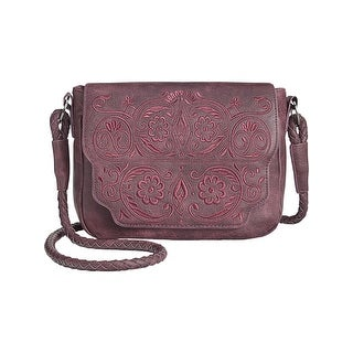 Circus by Sam Edelman Womens Trixie Crossbody Handbag Faux Leather Embroidered - small