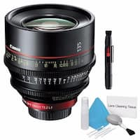 Canon CN-E 135mm T2.2 L F Cinema Prime Lens (EF Mount) (International Model) + Deluxe Cleaning Kit Bundle (AF6CANCNE13522LFB3)