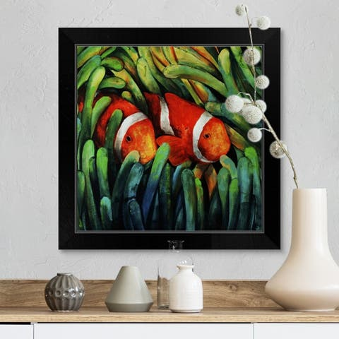 """Sea Life"" Black Framed Print"