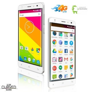 "Indigi ANDROID 6.0 MM 4G LTE DUAL-SIM SMARTPHONE 5.0"" IPS 2.5D CURVED SCREEN UNLOCKED! - White"
