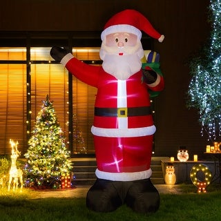 Link to Glitzhome 12' Lighted Inflatable Decor Similar Items in Christmas Decorations