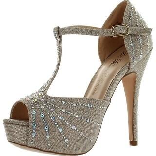 De Blossom Womens Vice-57X Dressy Party Heels Sandals
