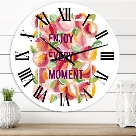 Designart 'Enjoy Every Moment' Traditional wall clock