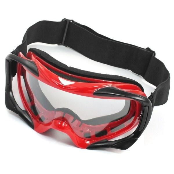 Unique Bargains Sport Adjustable Strap Full Fame Ski Skating Snowboard Goggles Glasses