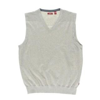Izod Mens Stitched Yoke Heathered Sweater Vest