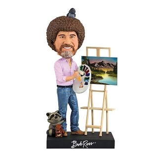 "Bob Ross 8"" Polyresin Bobblehead - multi"