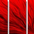 Statements2000 Red 5 Panel Contemporary Metal Wall Art by Jon Allen - Red Plumage - Thumbnail 4