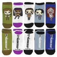 The Walking Dead Chibi Characters 5 Pair Low Cut Ankle Socks: Size 4-10