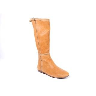 Car Shoe Women's Light Caramel Flat Leather Tall Boots