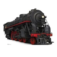46 x 64 in. Black & Red Steam Train Cardboard Standup