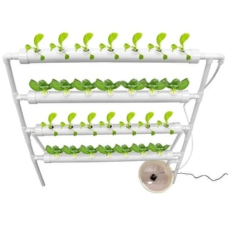 Link to 28 Holes Hydroponic 36 Holes Plant Site Grow Kit Garden System Vegetable Ladder Style-4 Pipes 4 Layer Similar Items in Gardening