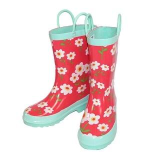 Lazy One Kids' Floral Print Rain Boots