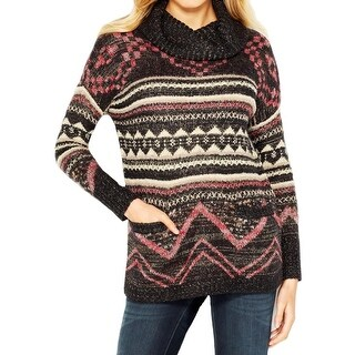 Lucky Brand Womens Juniors Pullover Sweater Wool Pattern