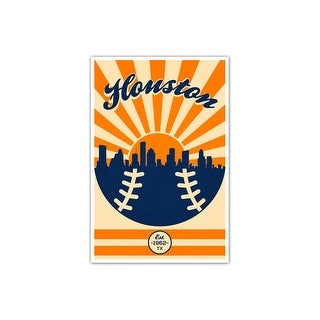 Houston - Vintage MLB - 16x24 Gallery Wrapped Canvas Wall Art