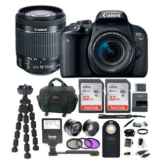 Link to Canon EOS Rebel T7i DSLR Camera with 18-55mm lens and 64GB Accessory Bundle Similar Items in Digital Cameras