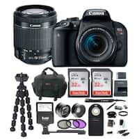 Canon EOS Rebel T7i DSLR Camera w/18-55mm lens & 64GB Deluxe Accessory Bundle