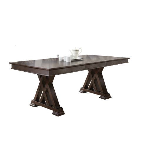Alston 78-inch Espresso Cherry Dining Table by Greyson Living