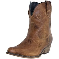 Dingo Fashion Boots Womens Adobe Rose Side Zip Light Brown DI 692