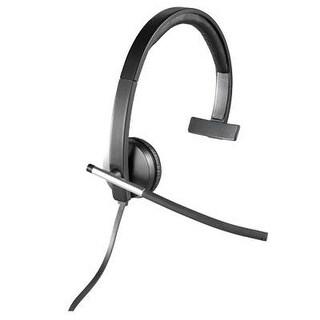 Logitech 981-000513 Usb Headset Mono H650e , Corded Single-Ear Headset