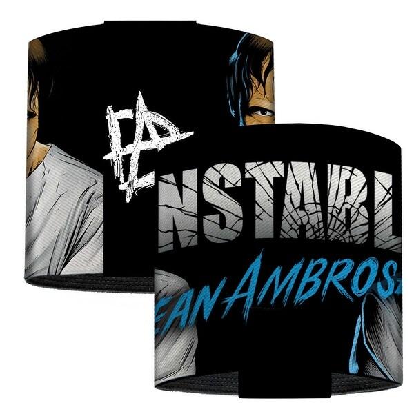 Dean Ambrose Straitjacket Pose Unstable Shatter Black White Blue Elastic Elastic Cuffs