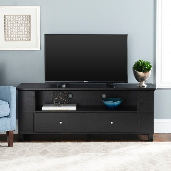Middlebrook Designs 59-inch Black TV Stand Storage Console. Opens flyout.