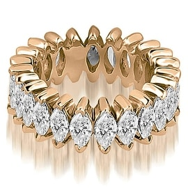 2.88 cttw. 14K Rose Gold Marquise Diamond Eternity Ring