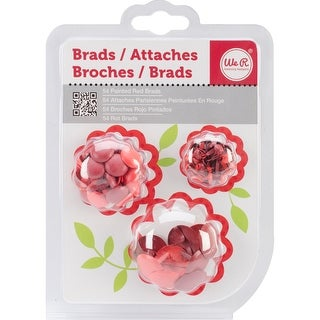 Painted Brads 54/Pkg-Red