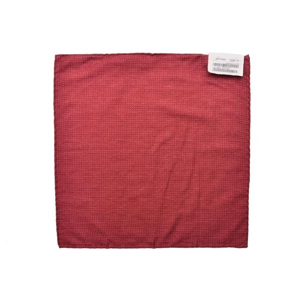 Brunello Cucinelli Mens Cotton Red Pocket Square One Size~Retail$225