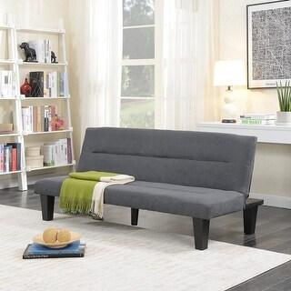 Belleze Premium Convertible Sofa Futon, Microfiber Couch Bed Legs Multi-functional Adjustable