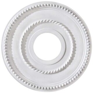 """Canarm FM-39 Pearl Ceiling Medallion With 3-5/8"""" Center Opening"""