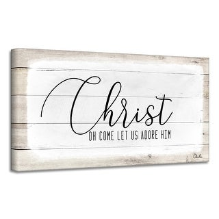 Link to Ready2HangArt 'Christ' Holiday Canvas Wall Art by Olivia Rose Similar Items in Christmas Decorations
