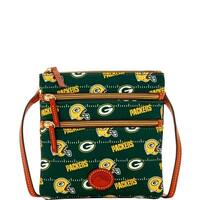 Dooney & Bourke NFL Green Bay Packers North South Triple Zip Shoulder Bag (Introduced by Dooney & Bourke at $108 in Aug 2017)