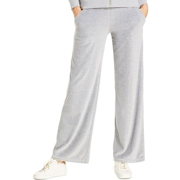 MICHAEL Michael Kors Womens Lounge Pants Velour Ribbed Trim