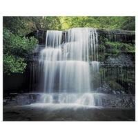 Poster Print entitled Liffey Falls in Liffey State Reserve near Deloraine, World Heritage Area, Australia - multi-color