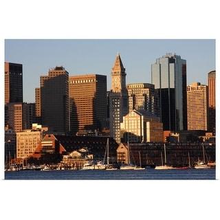 """""""Boston, Massachusetts skyline"""" Poster Print"""
