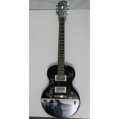 Signed U2 Bono The Edge Adam Clayton Larry Mullen Jr Canvas Guitar by U2  Bono The Edge Adam Clay