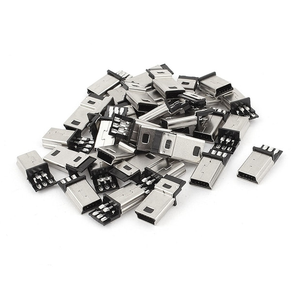 Unique Bargains 35Pcs Mini USB 5Pin Type B Male Plug Connector PCB Mounting Jack Socket