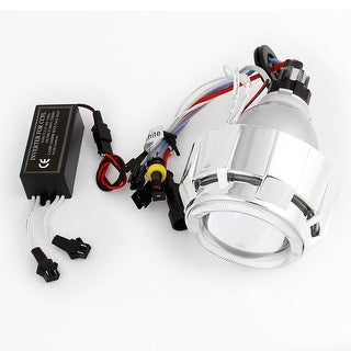 Unique Bargains White 6000K Motorcycle Headlight HID Bi Xenon Projector Lens Light