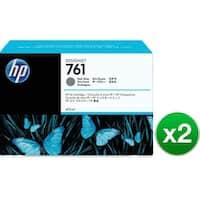 HP 761 400-ml Dark Gray DesignJet Ink Cartridge  (CM996A)(2-Pack)