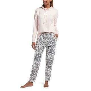 Hue Sleepwear Women's Misty Skin Jersey Pajama Set With Pockets