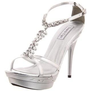 Touch Ups Womens Patsy Metallic Platforms Evening Heels - 9.5 medium (b,m)