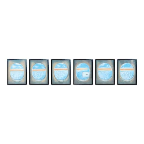 "Dimond Home 7011-1390/S6 Plane Window 40"" x 180"" ""Plane Windows Collection"" Six Piece Framed Painting on Gallery Stretched"